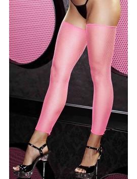 Pink Mesh Short Socks
